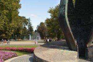 Margaret Island Budapest Centennial Memorial Sunny Day
