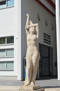 Margaret Island Budapest Palatinus Baths Emile Guilleaume Statue