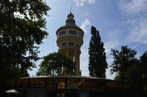 Margaret Island Budapest Water Tower Front